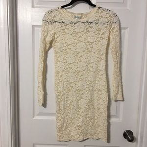 Lace long sleeve fitted dress